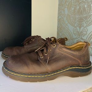 Dr. Martens Mens Brown Leather Oxford Shoes Lace